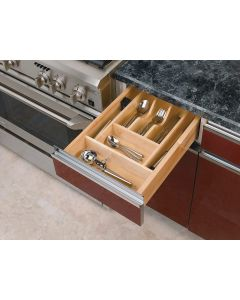 """TRIMMABLE WOOD CUTLERY TRAY 20 5/8"""" TO 14 1/4"""""""