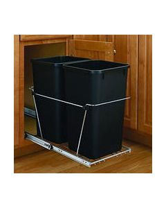 DOUBLE BOTTOM MOUNT WIRE WASTE CONTAINER